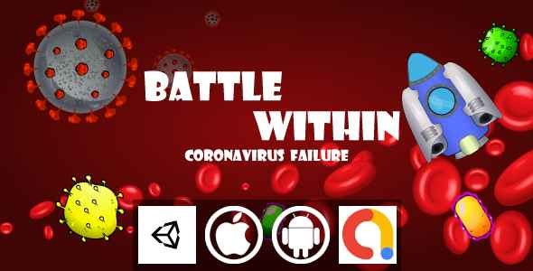 Battle Within CoronaVirus Failure Unity Shooter Game With Admob For Android and iOS - CodeCanyon Item for Sale
