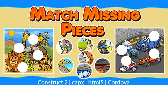 Match Missing Pieces Kids Learning Game (CAPX   HTML5   Cordova)