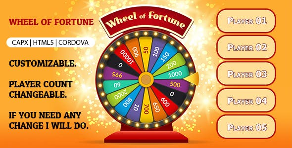 Wheel of Fortune Game (CAPX | HTML5 | Cordova)