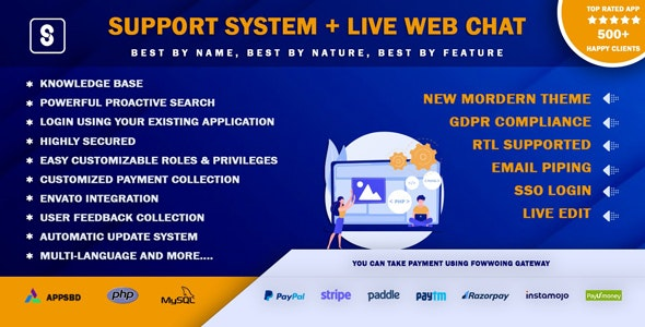 Best Support System-Live Web Chat & Client Desk & Ticket Help Centre - CodeCanyon Item for Sale