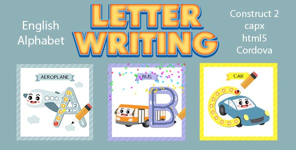Letter Writing (CAPX | HTML5 | Cordova) Kids Education Game