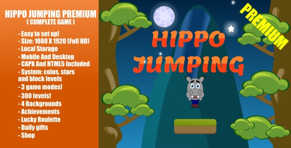 Hippo Jumping PREMIUM | Construct 2 - CodeCanyon Item for Sale