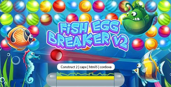 Fish Egg Breaker v2 (CAPX   HTML5   Cordova) Bricks Breaker Game