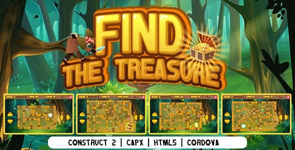 Find The Treasure (CAPX   HTML5   Cordova) Puzzle Game