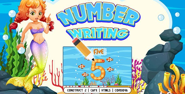 Number Writing (CAPX   HTML5   Cordova) Kids Game
