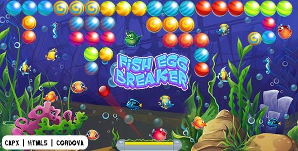 Fish Egg Breaker (CAPX | HTML5 | Cordova) Bricks Breaker Game