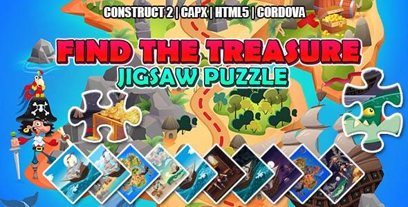 Find the Treasure Jigsaw Puzzle Game (CAPX   HTML5   Cordova)
