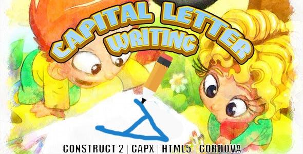 Capital Letter Writing (CAPX | HTML5 | Cordova) Kids Game