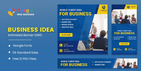 Business Marketing Animated Banner GWD