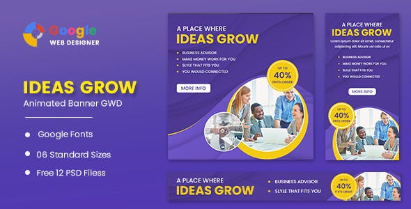 Ideas Growth Animated Banner Google Web Designer