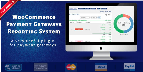 WooCommerce Payment Gateways Reporting System - CodeCanyon Item for Sale
