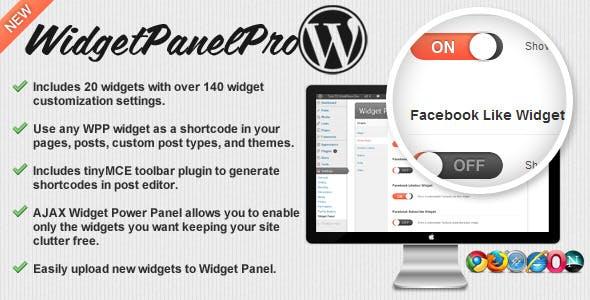 Widget Panel Pro for WordPress