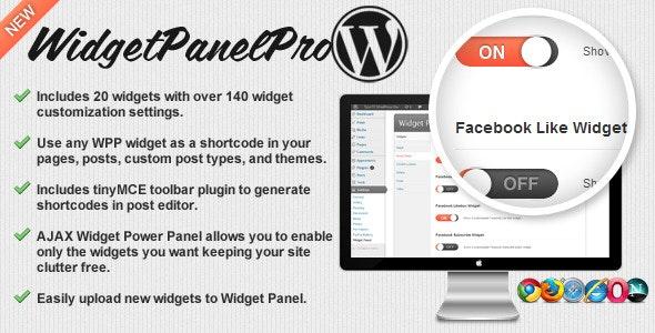 Widget Panel Pro for WordPress - CodeCanyon Item for Sale