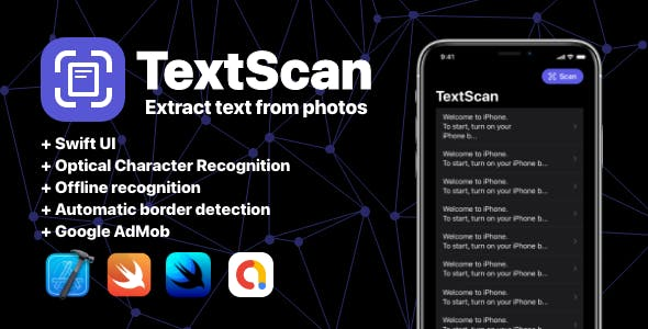 TextScan OCR Swift UI App - Extract text from documents