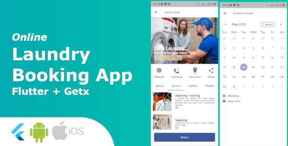 Laundry Booking/Cleaning Service App - Full Application