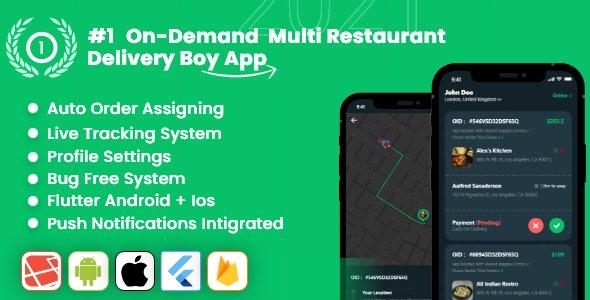 Delivery App – Multiple Restaurants Food Ordering Flutter App Mealup v4.0