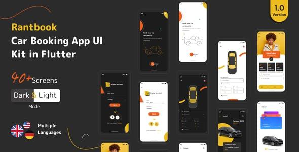 RantBook - Car Booking App UI Kit in Flutter