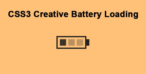 CSS3 Creative Battery Loading