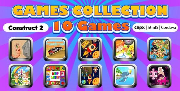Game Collection 16 (CAPX | HTML5 | Cordova) 10 Games