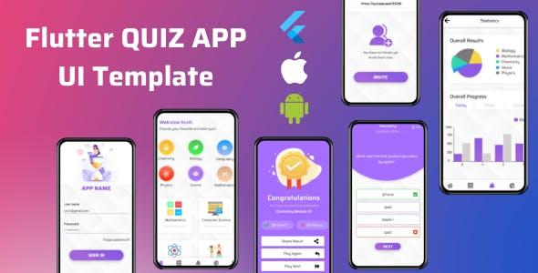 The Quiz - Flutter App UI Template