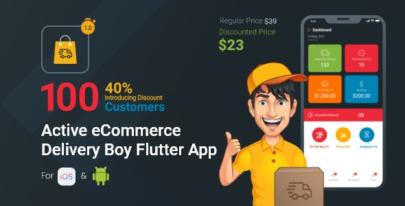 Active eCommerce Delivery Boy Flutter App - CodeCanyon Item for Sale