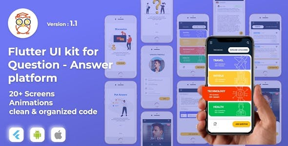 AskThrifty! Flutter UI Kit for Question and answer application