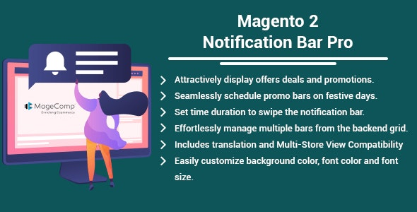 Magento 2 Notification Bar Pro by MageComp - CodeCanyon Item for Sale