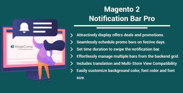 Magento 2 Notification Bar Pro by MageComp