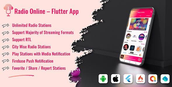 Radio Online - Flutter Full App