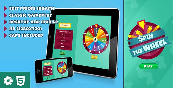 Spin the Wheel - HTML5 Game (.capx)