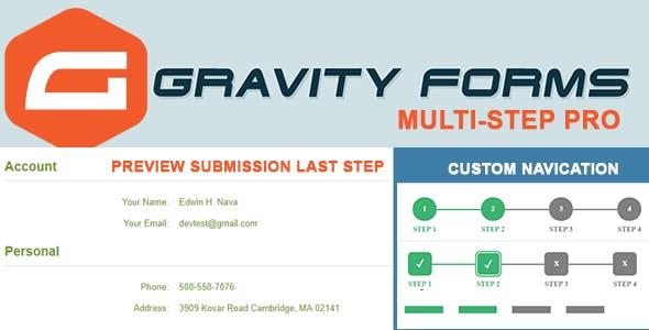 Gravity Forms Multi-step Pro