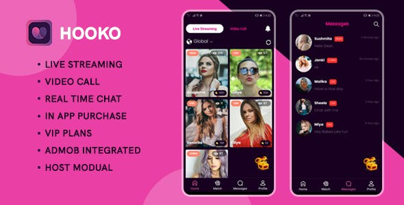 Hooko - Live streaming, One to One video call, Chat