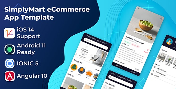 SimplyMart Mobile App Template   Android App + Ecommerce iOS App Template   Angular 10   Ionic 5 - CodeCanyon Item for Sale