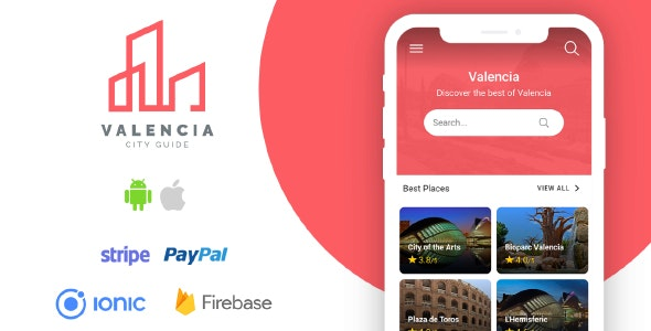 Valencia - Complete City Guide App + Backend - Ionic - CodeCanyon Item for Sale