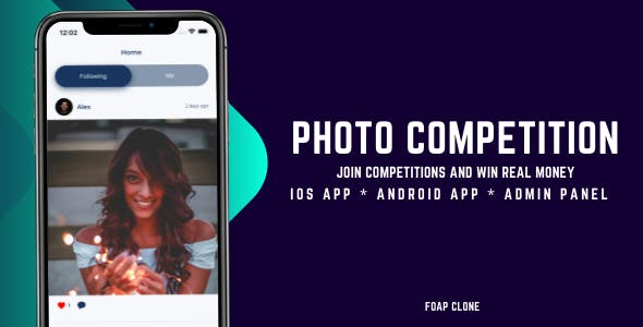 Photo competition and win real money Flutter app - iOS and android app