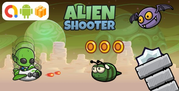 Alien Shooter Android Game with AdMob + Ready to Publish