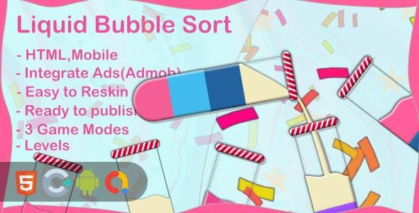 Liquid Bubble Sort (Html5 + Construct 3 +Mobile)