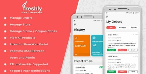 Freshly IOS - Native Grocery Vendor / Store Owner App