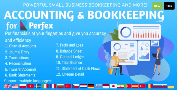 Accounting and Bookkeeping for Perfex CRM v1.0.5