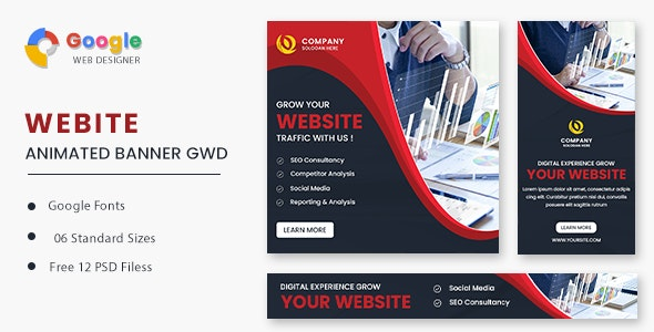 Build Website Animated Banner GWD - CodeCanyon Item for Sale