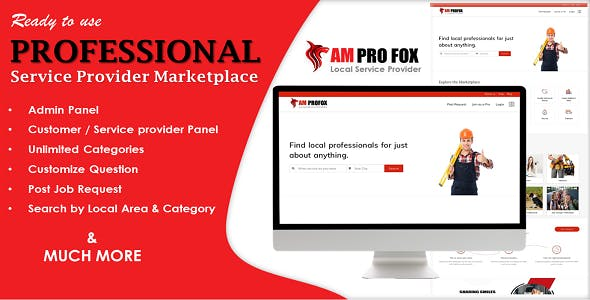 Professional Service Provider Marketplace in ASP.NET