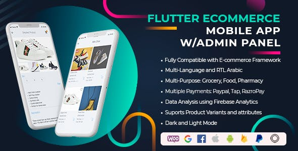 Flutter Universal Full Mobile App for iOS & Android Mobile App and Admin Panel