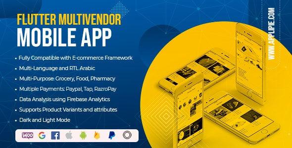 Flutter WooCommerce Android & Ios Multivendor App - Flutter WooCommerce WCFM & WooCommerce Dokan App - CodeCanyon Item for Sale