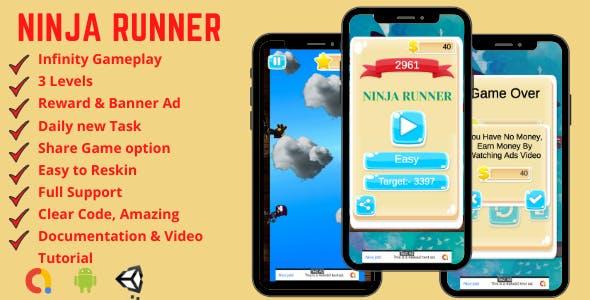 Ninja Runner - Endless Android Game Template + Admob
