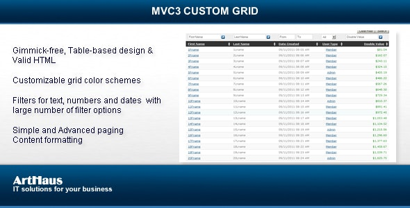 .NET CUSTOM GRID - CodeCanyon Item for Sale