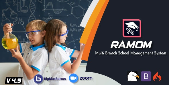 Ramom School v4.5 – Multi Branch School Management System