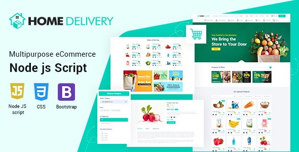 Home Delivery Node JS Script - CodeCanyon Item for Sale