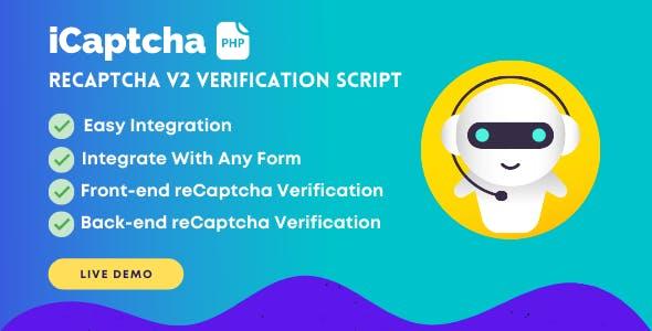 iCaptcha | Frontend & Backend reCaptcha Verification