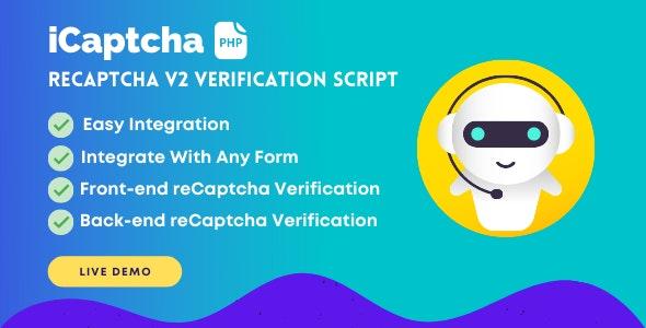 iCaptcha   Frontend & Backend reCaptcha Verification