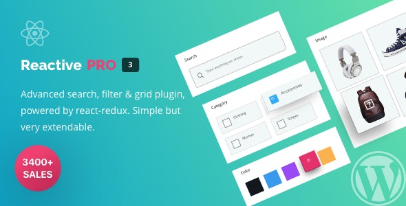 Reactive Search Pro - Advanced WordPress Search & Filter Plugin with Map Grid - CodeCanyon Item for Sale